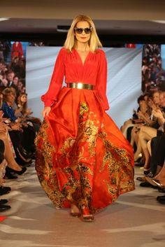 Marianna Ďurianová in dress by Jana Pištejová (Bratislava Fashion Days 2017)