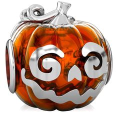 BELLA FASCINI Jack-O-Lantern Orange Halloween Pumpkin Bead Charm Fits European Bead Charm Bracelets. Color: Bella Fascini Luxe Vivid Color Enamel - Orange Translucent. Metal: Solid 925 Sterling Silver - Hand finished and highly polished. Fit: Bella Fascini fits authentic Pandora, Chamilia, Biagi, Troll, Ohm, Charmed Memories, Zable, Individuality, Persona and all other compatible European style charm bead bracelets, bangles, and cuffs. Design: Bella Fascini charms are skillfully executed...