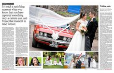 Wedding photography article in West Country Life magazine in the Western Daily Press