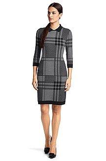 Knit dress 'F5046' in a new wool blend, Patterned