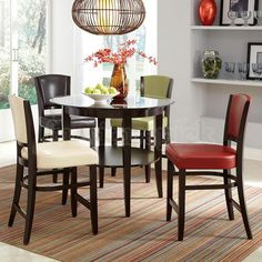 Dining 1036 5 Piece Pub Table & Upholstered Stool Set by Coaster at Del Sol Furniture Large Home Office Furniture, Dining Room Furniture, Home Furniture, Dining Chairs, Dining Rooms, Adams Furniture, Furniture Depot, Side Chairs, Glass Dining Table