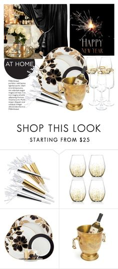 """New Years Dining Set"" by amelia-carnero ❤ liked on Polyvore featuring interior, interiors, interior design, home, home decor, interior decorating, Crate and Barrel, Jay Import and Lenox"