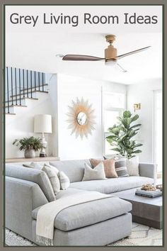 Cozy Grey Living Room Inspiration – LOVE all these gray and white living rooms and dark gray living room ideas! I really like a neutral living room with pops of … Cozy Living Spaces, Living Room Grey, Home Living Room, Living Room Designs, Living Room Furniture, Living Room Decor, Small Living, Modern Living, Minimalist Living