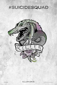 Suicide Squad - des posters-tattoo des personnages : Killer Croc