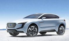 Subaru Viziv Hybrid AWD SUV concept front three quarter