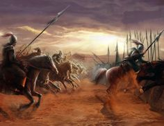 Charge of the Chinese cavalry, Warring States Period, Ancient China