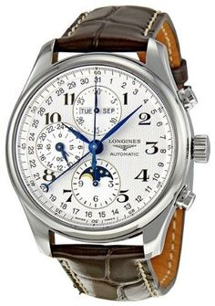 Longines Master Collection Chronograph Men's Watch - Master Collection - Longines - Shop Watches by Brand - Jomashop Sport Watches, Cool Watches, Timex Watches, Men's Watches, Fashion Watches, Tag Heuer, Luxury Watches For Men, Beautiful Watches, Vintage Watches