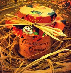 Halloween candle in a jar - £3.50 http://www.ebay.com/itm/261313127141?ssPageName=STRK:MESELX:IT&_trksid=p3984.m1555.l2649