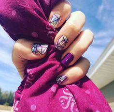 Beautiful must have nails! Fractured wraps layered with Beauty Sleep Gel! Get the look with Jamberry Nails at heatherhanshew.jamberry.com