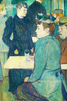 A Corner of the Moulin de la Galette 1892 II, by Henri de Toulouse-Lautrec