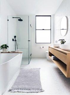 Rustic Bathroom Vanities, Bathroom Renos, Small Bathroom, Bathroom Ideas, Stone Bathroom, Concrete Bathroom, White Bathrooms, Gold Bathroom, Luxury Bathrooms