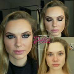 Before and After pictures Makeup by D. Hill