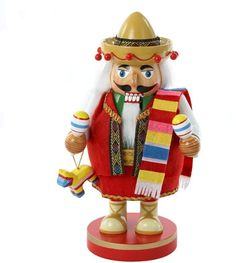 Christmas gift idea: this amazing Mexican nutcracker, a traditional dancer with artisan toys for kids. #christmas #mexico #ad #tradition