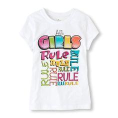 girls rule graphic tee
