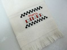 Mom's Diner Retro Style Cross Stitched by luvinstitchin4u on Etsy, $8.99