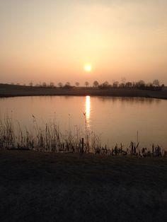 Golfclub Liemeer, genieten van de zon.