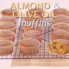 These Almond and Olive Oil Muffins from Giada are delicately scented with orange which adds a subtle hint of citrus flavor.