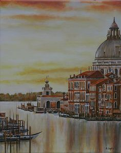 """Venice: The Floating City"" by Andy Lloyd, acrylic on canvas, November 2015"