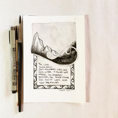 Illustration #8 for #Inktober2015 continues the poem. 10.08.15 #arhsketches #thehobbit Copyright Amalia Hillmann
