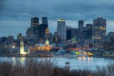 Downtown Montreal from the Jacques Cartier Bridge