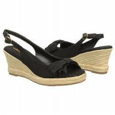 Women's Natural Soul by Naturalizer Brie Black Twill Fabric FamousFootwear.com