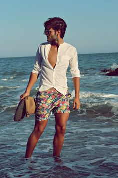 beach outfit men- printed shorts and shirt outfit men Beach Style Inspiration For Men This Vacation Beach Holiday Outfits, Summer Outfits, Beach Outfits, Holiday Beach, Beach Outfit For Men, Beach Shorts Outfit, Beach Attire, Summer Dresses, Beach Photography Poses