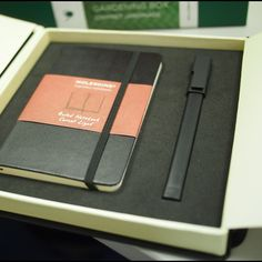 moleskine packaging.
