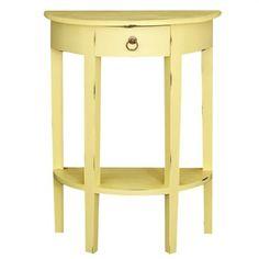 Half Round Sofa Table - Olympic Yellow
