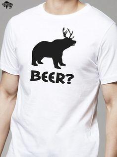 Beer Bear Deer Tshirt MENS T Shirt Unisex Shirt Graphic by ebollo, $14.99