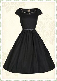 86014cf76c2bed Lindy Bop 50er Jahre Vintage Rockabilly Petticoat Kleid - Tara - Schwarz  Konfirmationskleider Schwarz, Petticoat