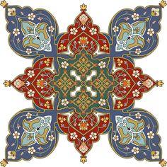 Persian pattern note the bright color and interesting design Tile Patterns, Pattern Art, Textures Patterns, Pattern Design, Persian Pattern, Persian Motifs, Islamic Art Pattern, Arabesque Pattern, Iranian Art