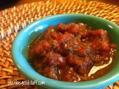 Fire Roasted Salsa - Easy homemade salsa in minutes. For recipe go to www.ceceliasgoodstuff.com #Salsa #cincodemayo #cincodemayorecipe