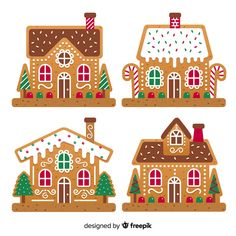 Kfc Christmas, Diy Christmas Village, Christmas Paper Crafts, All Things Christmas, Winter Christmas, Cardboard Gingerbread House, Gingerbread House Patterns, Christmas Party Backdrop, Christmas Decorations