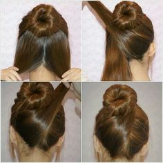 5 minute Criss-Cross Bun Updo. A quick, professional hairstyle.