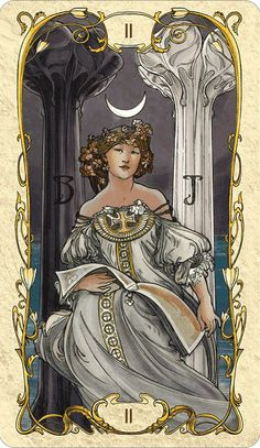 The High Priestess - Tarot Mucha