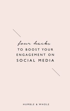 Are you struggling to grow an engaged community using your social media?  With our 4 Hacks to Boost Your Engagement (and beat any algorithm) cheat sheet, you'll learn how to attract genuine followers who are actually interested in your content/offerings a