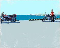 #illustration #painting #tatsurokiuchi #art #drawing #life #lifestyle #happy #japan #people #木内達朗 #イラスト #イラストレーション #honda #cb750f #motorcycle #バイク #バイク好き