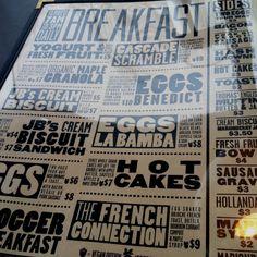 Doug Fir Lounge typographic menu