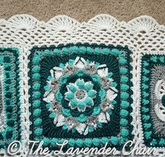 Here it is, the final post for the Mandala Blanket CAL! After the mandala CAL border is finished, your Mandala Blanket will finally be complete! Instructions: Join with a SS to the corner chain 3 space pictured below. Round 1: Chain 1. Sc in the same space. Chain 3. *[Sc …