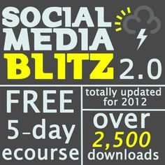 If you are ready to learn how to decrease the amount of time you spend promoting your Etsy items and at the same time maximize your results, the Social Media Blitz 2.0 5-day ecourse is just for you!  http://www.handmadeology.com/social-media-blitz-2-0-free-5-day-social-media-marketing-ecourse/