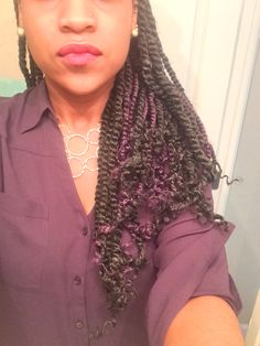 My black and PURPLE Marley twists!!