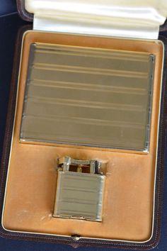 DUNHILL Gold 18k Set  Lighter + Cigarette box + box  Briquet Feuerzeug Accendino.