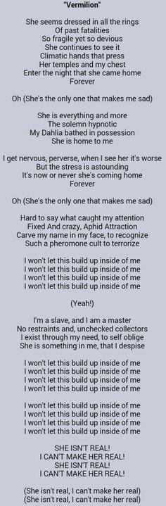Vermillion - Slipknot. Amazing song