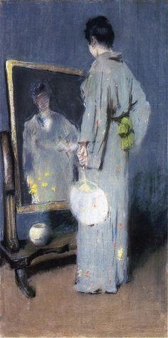 """""""Study for making her toilet"""" (1892) - William Merritt Chase (American artist, 1849 - 1916)"""