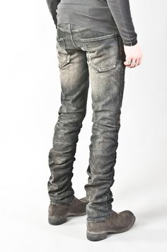 gathered seam jeans — re. porter