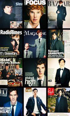 Benedict's magazine covers.