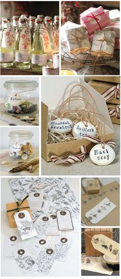 DIY labels made with simple salt dough or Fimo clay.