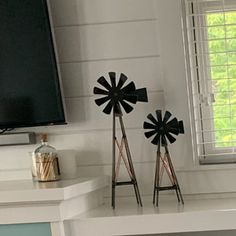 Metal Windmill Tower Set-Handmade Free Standing Windmill Towers-Rustic to Modern Farmhouse Decor-Legged Windmill Towers-One of a Kind Metal Wedding Arch, Metal Arch, Unique Wedding Centerpieces, Wedding Decor, Windmill Wall Decor, Metal Wall Planters, Modern Farmhouse Decor, Farmhouse Furniture, Plate Stands