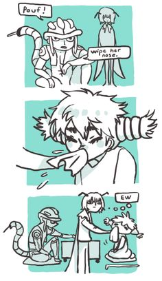 meruem x komugi - I keep look at her nose the whole time i watching. DX