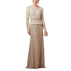 SDRESS Women's Crewneck 3/4 Sleeve Long Mermaid Lace Mother Bridesmaid Dress Multi Color Size 22. Lace fabric; Dry clean only. Illusion crew neckline with 3/4 sleeve. Multicoloured dress embellished with detachable waist belt. Hidden zipper closure, long mermaid style. Made-to-order product, you can receive it in 2 weeks if u choose expedited shipping.